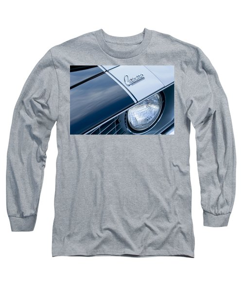 1969 Chevrolet Camaro Z-28 Emblem Long Sleeve T-Shirt by Jill Reger