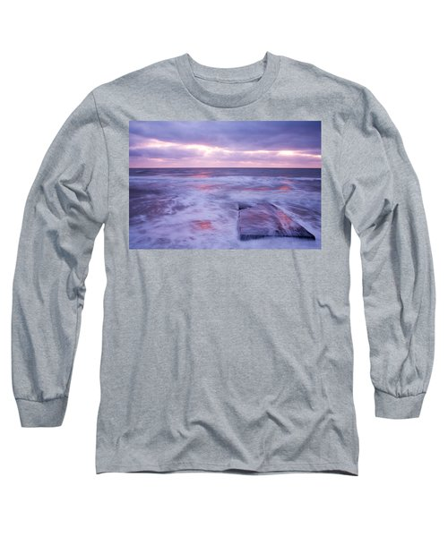 Ballyconnigar Strand At Dawn Long Sleeve T-Shirt