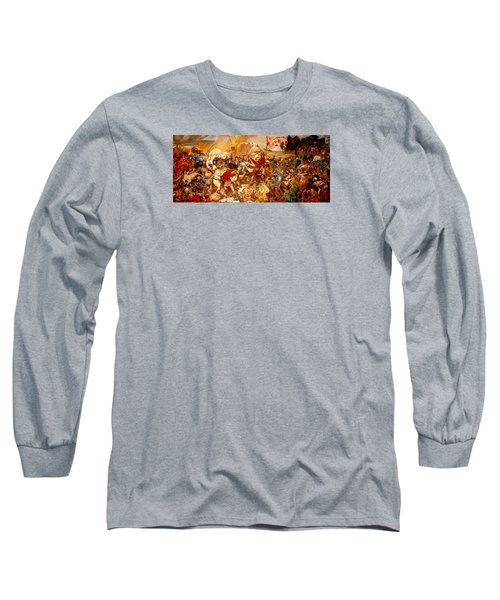 Long Sleeve T-Shirt featuring the painting Battle Of Grunwald by Henryk Gorecki