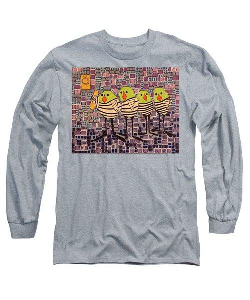 4 Calling Birds Long Sleeve T-Shirt