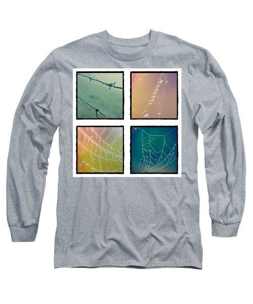 4 Color Web Droplets Long Sleeve T-Shirt