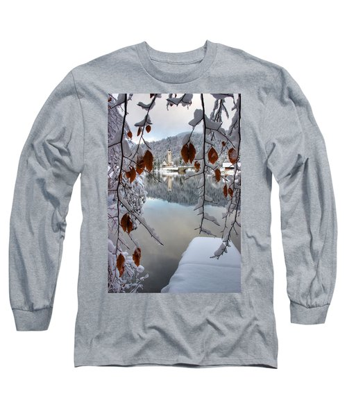 Lake Bohinj In Winter Long Sleeve T-Shirt