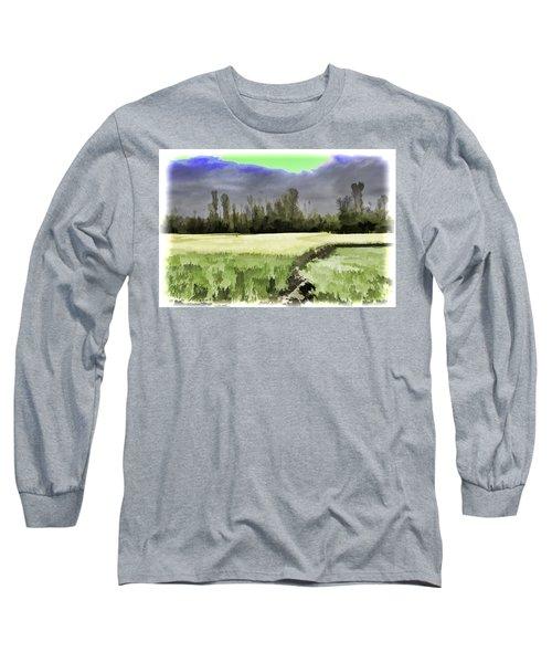 Mustard Fields In Kashmir Long Sleeve T-Shirt