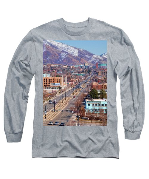 Long Sleeve T-Shirt featuring the photograph 400 S Salt Lake City by Ely Arsha