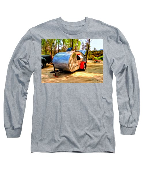 Long Sleeve T-Shirt featuring the painting 47 Teardrop by Michael Pickett