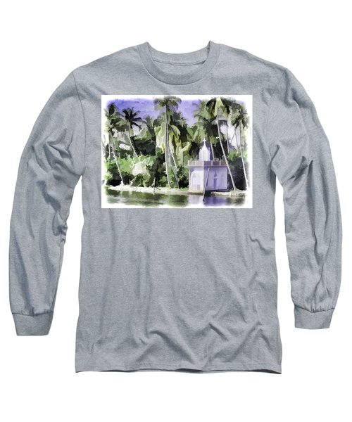 Church Located Next To A Canal Long Sleeve T-Shirt