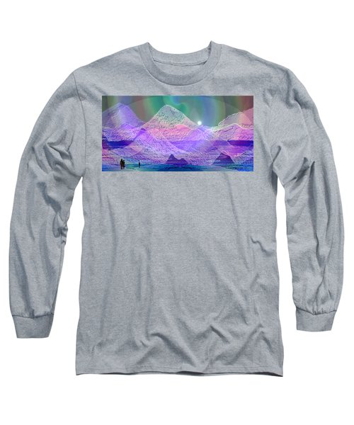 939 - Magic Mood  Mountain World Long Sleeve T-Shirt by Irmgard Schoendorf Welch