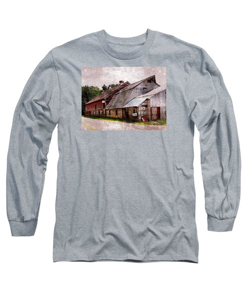 A Barn With Many Purposes Long Sleeve T-Shirt by Marcia Lee Jones
