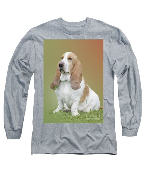 Long Sleeve T-Shirt featuring the photograph A Basset Hound Portrait by Linsey Williams