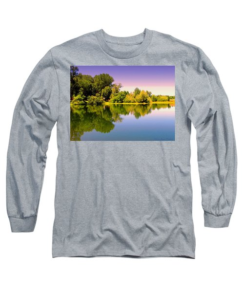 A Beautiful Day Reflected Long Sleeve T-Shirt by Joyce Dickens