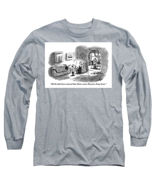 A Boy Talks To His Father In The Living Room Long Sleeve T-Shirt