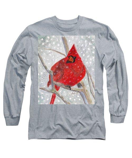 A Cardinal Winter Long Sleeve T-Shirt