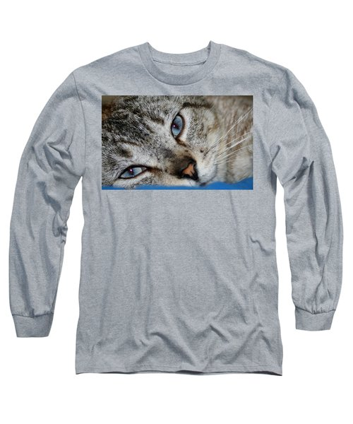 A Cat Named...blue Long Sleeve T-Shirt