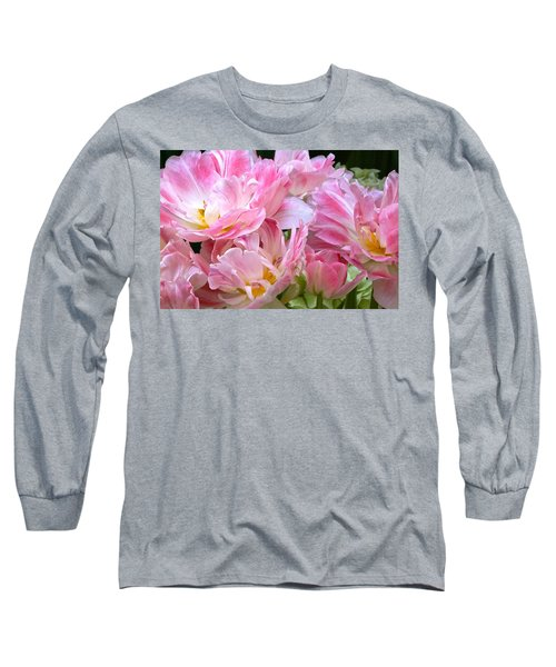 A Crowd Of Tulips Long Sleeve T-Shirt by Byron Varvarigos