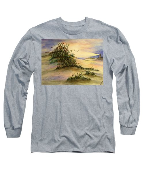 A Day At The Beach Long Sleeve T-Shirt by Hae Kim