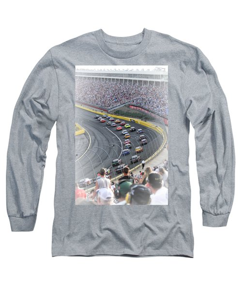 A Day At The Racetrack Long Sleeve T-Shirt by Karol Livote