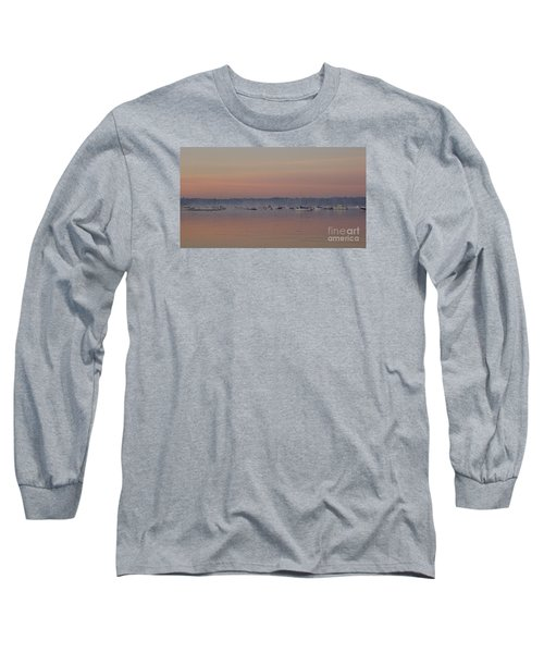 Long Sleeve T-Shirt featuring the photograph A Foggy Fishing Day by John Telfer