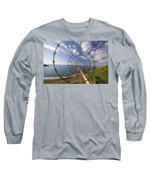 A Forced Perspective View Down A Ribbon Long Sleeve T-Shirt