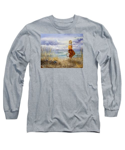 A Girl And The Ocean Long Sleeve T-Shirt