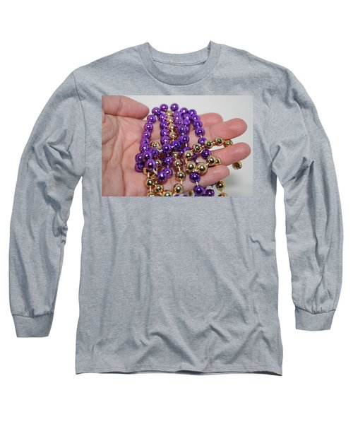 Long Sleeve T-Shirt featuring the photograph A Handful Of Beads by Ester  Rogers