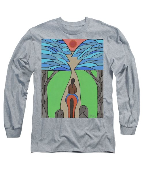 Long Sleeve T-Shirt featuring the painting A Horse Of A Different Colour by Barbara St Jean