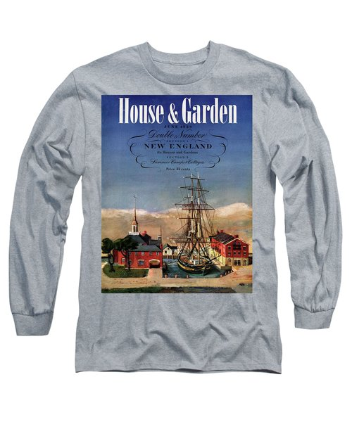 A House And Garden Cover Of A Model Ship Long Sleeve T-Shirt