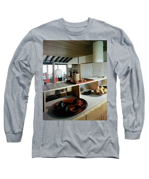 A House At Quantuck Bay Long Sleeve T-Shirt