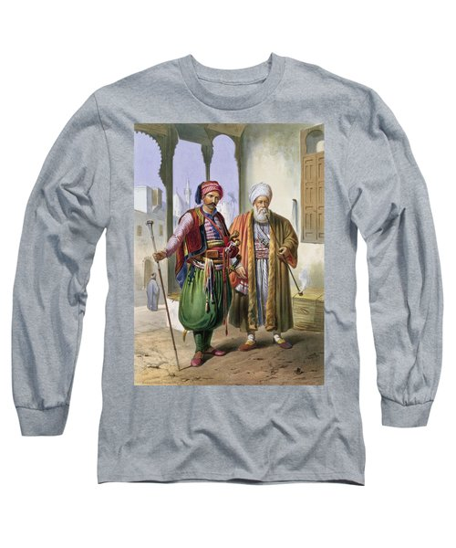 A Janissary And A Merchant In Cairo Long Sleeve T-Shirt