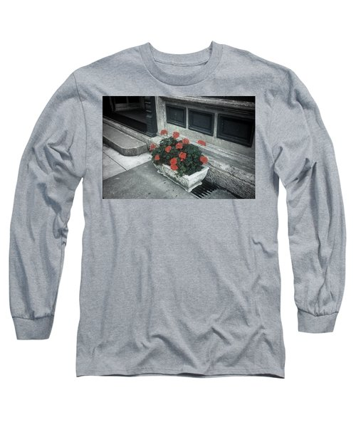 Long Sleeve T-Shirt featuring the photograph A Little Color In A Drab World by Rodney Lee Williams