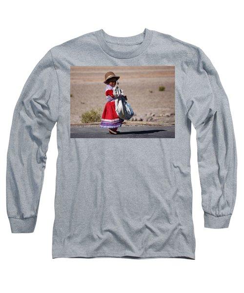 A Little Girl In The  High Plain Long Sleeve T-Shirt