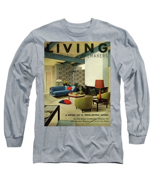 A Living Room With Carpeting By Callaway Long Sleeve T-Shirt