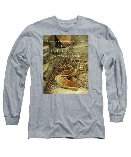 Long Sleeve T-Shirt featuring the photograph A Long Way by Simona Ghidini