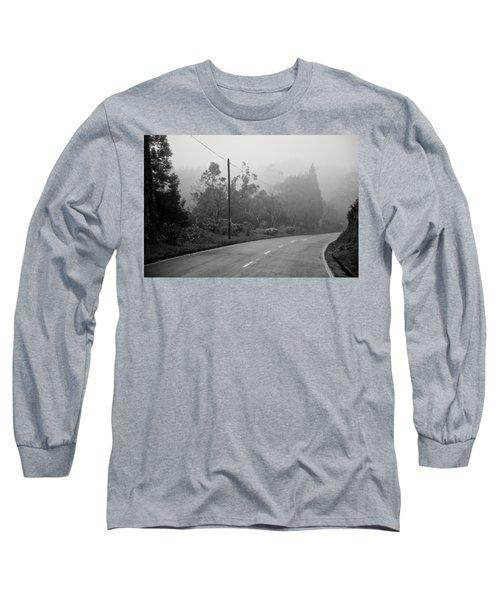A Misty Country Road Long Sleeve T-Shirt