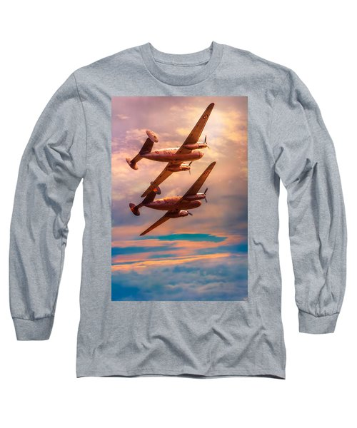 Long Sleeve T-Shirt featuring the photograph A Pair Of Flamingos by Chris Lord