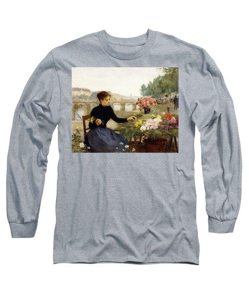 A Parisian Flower Market Long Sleeve T-Shirt