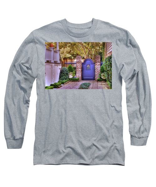 Long Sleeve T-Shirt featuring the photograph A Private Garden In Charleston by Kathy Baccari