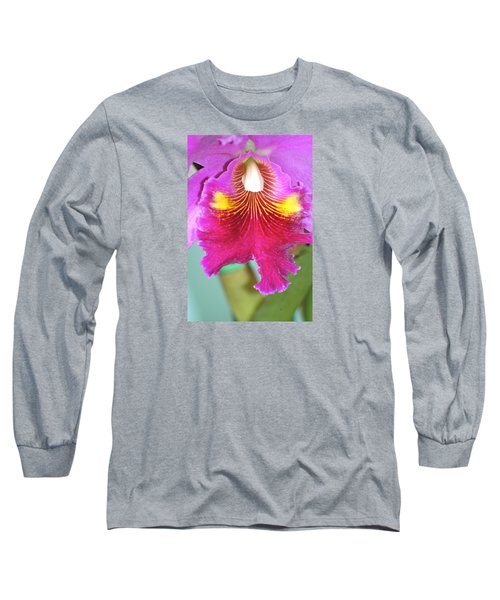A Purple Cattelaya  Orchid Long Sleeve T-Shirt by Lehua Pekelo-Stearns