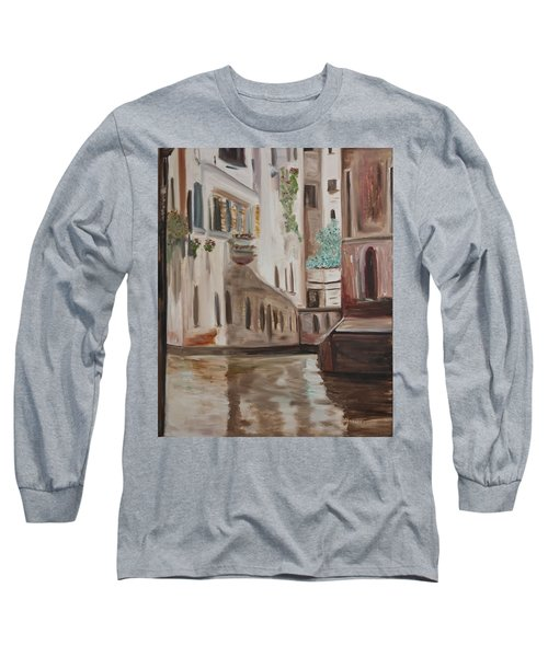 A Quiet Venice Canal Long Sleeve T-Shirt