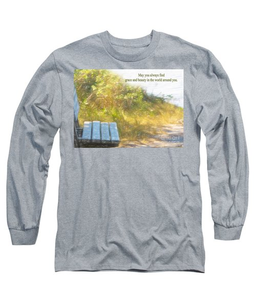 A Seat By The Ocean To Observe God's Beauty Long Sleeve T-Shirt