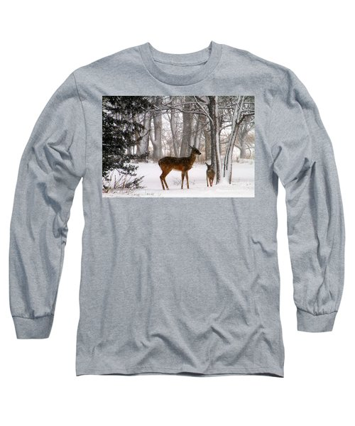 A Snowy Path Long Sleeve T-Shirt
