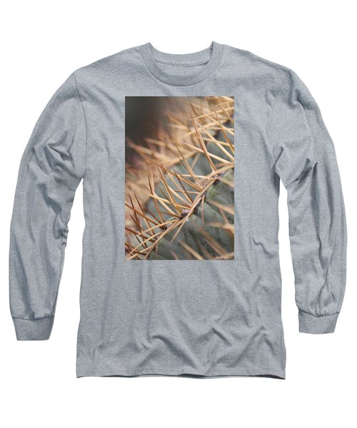 Long Sleeve T-Shirt featuring the photograph A Spiny Situation by Amy Gallagher