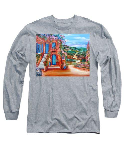 A Sunny Day In Chianti Tuscany Long Sleeve T-Shirt