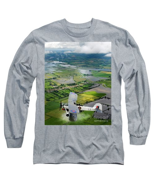 Long Sleeve T-Shirt featuring the photograph A Swordfish Aircraft With The Royal Navy Historic Flight. by Paul Fearn