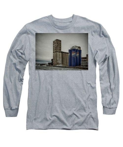 A Tall Blue Six-pack Long Sleeve T-Shirt
