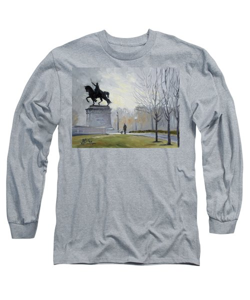 A Walk In Forest Park In St.louis Long Sleeve T-Shirt by Irek Szelag