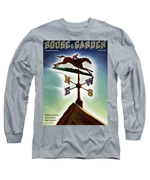 A Weathervane With A Racehorse Long Sleeve T-Shirt