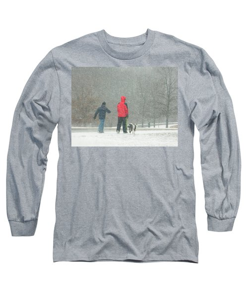 Long Sleeve T-Shirt featuring the photograph A Winter Walk In The Park - Silver Spring Md by Emmy Marie Vickers