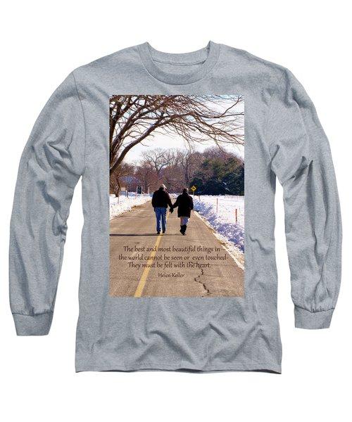 A Winter Walk/inspirational Long Sleeve T-Shirt