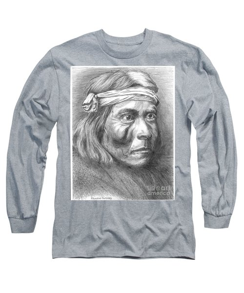 Shadow Catcher, A Zuni Governor Long Sleeve T-Shirt by Bill Hubbard