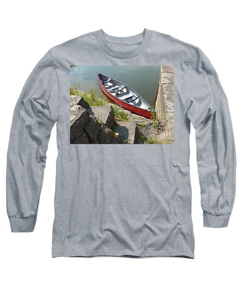 Abandoned Boat At The Quay Long Sleeve T-Shirt